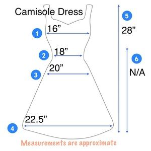 36.5 Dresses - NWOT - Lace Trim Camisole Dress